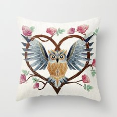 lovely owl Throw Pillow
