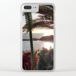 PARADISE SUNSET Clear iPhone Case