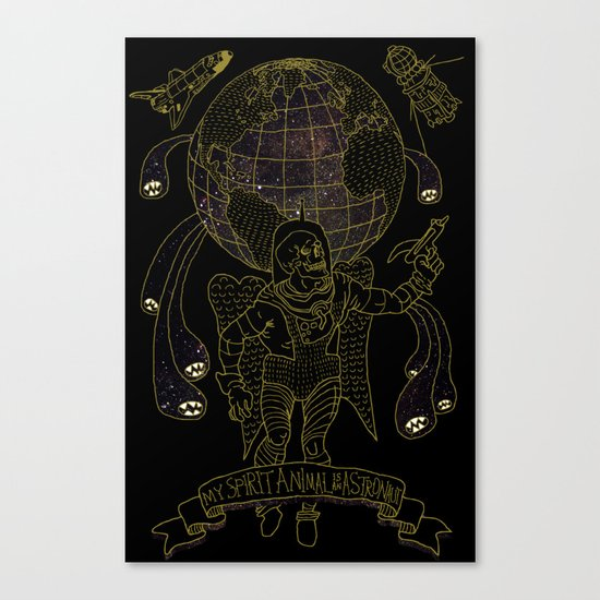 My Spirit Animal is an Astronaut Canvas Print
