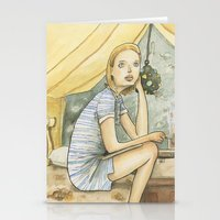 tenenbaum Stationery Cards featuring Margot Tenenbaum by Patt Kelley