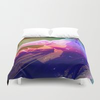 cosmic Duvet Covers featuring Cosmic by Monica Selva
