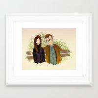 annie hall Framed Art Prints featuring Annie Hall by Renia