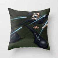 matrix Throw Pillows featuring Matrix by alexviveros.net