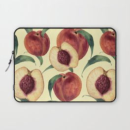 Watercolor sweet peaches Laptop Sleeve