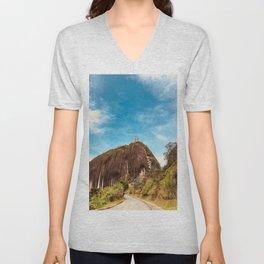 La roca Unisex V-Neck