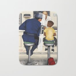 If Norman Rockwell Lived in Today's Society Bath Mat