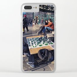The Showdown (Part 1: NYC) Clear iPhone Case