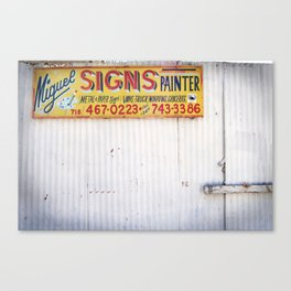 Signs Painter Canvas Print