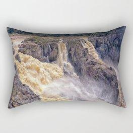 Powerful water going over the falls Rectangular Pillow