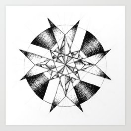 Crystalline Compass Art Print