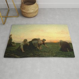 Jules Breton - The Weeders Rug