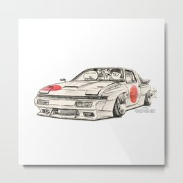 Crazy Car Art 0182 Metal Print