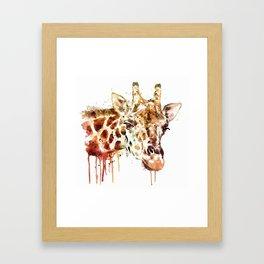 Giraffe Head Framed Art Print