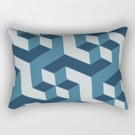 Blue dimension Rectangular Pillow