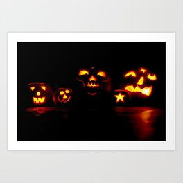 Jackolanterns Art Print