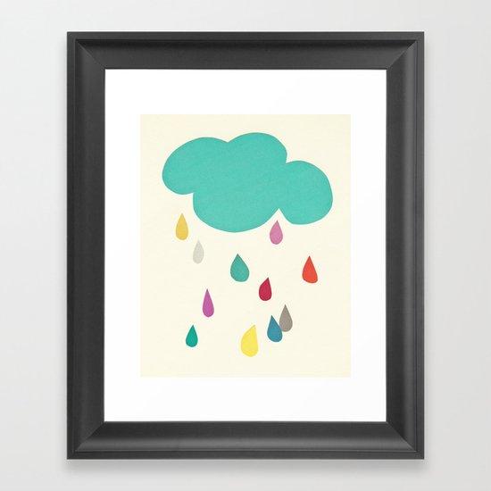 Sunshine and Showers Framed Art Print