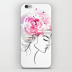 Rose Girl iPhone & iPod Skin
