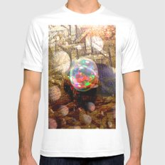 10gn1 MEDIUM Mens Fitted Tee White