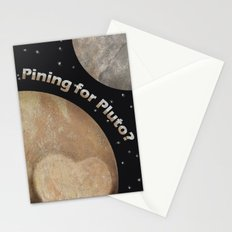 Pining For Pluto Stationery Cards