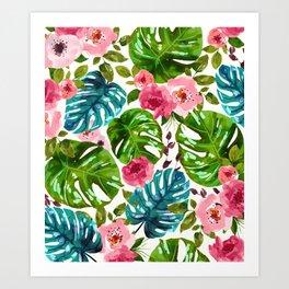Tropical Shades Art Print