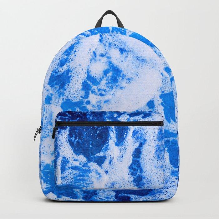Blue Ocean Waves Backpack
