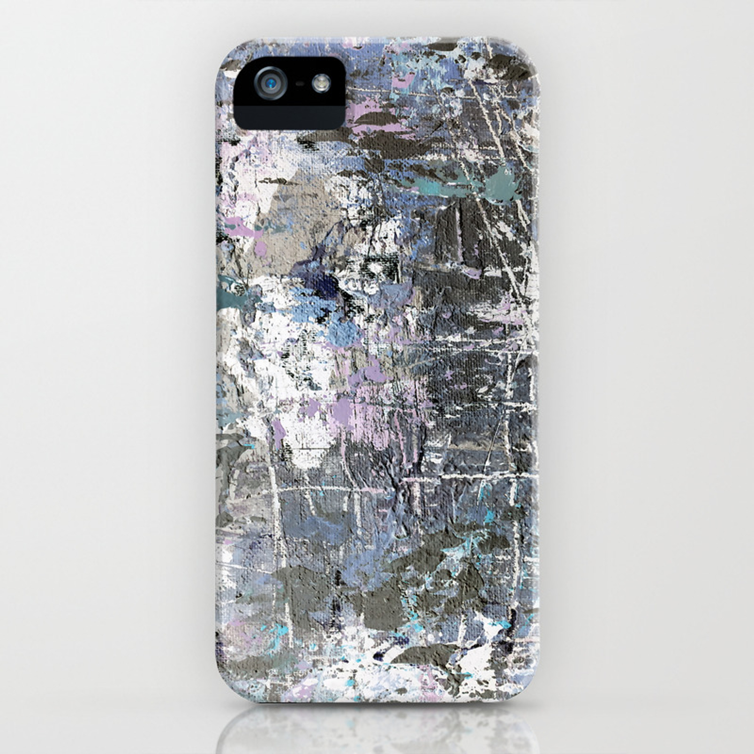 Abstract Blue Grunge Background Iphone Case
