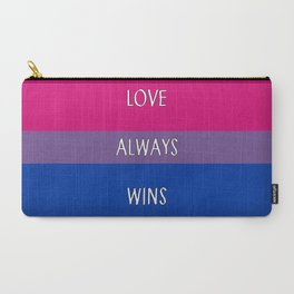 Love Always Wins (Bisexual Flag) Carry-All Pouch