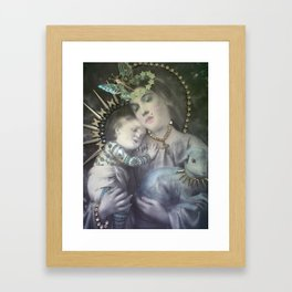Religion. Mary & the Lamb of God Framed Art Print