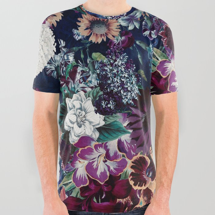 EXOTIC_GARDEN__NIGHT_XVI_All_Over_Graphic_Tee_by_Burcu_Korkmazyurek__Large