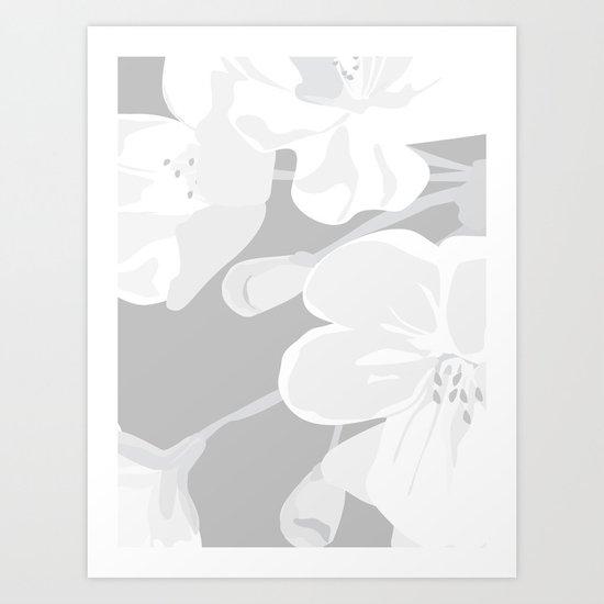 Blossoms: Three Art Print