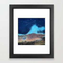 Auto Salvage Blue Rust Framed Art Print