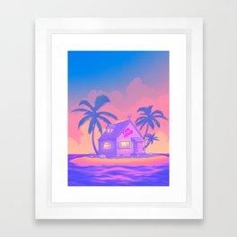 80s Kame House Framed Art Print