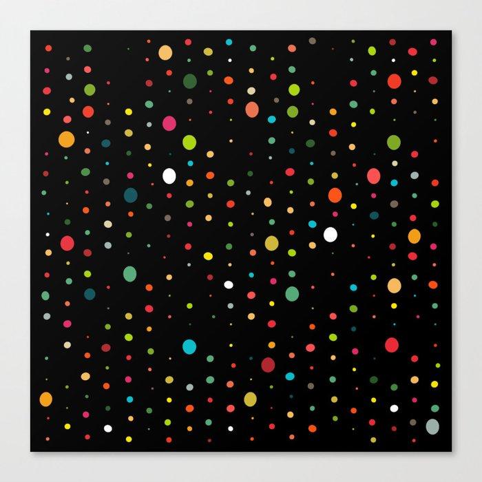 retro rain spots black Canvas Print