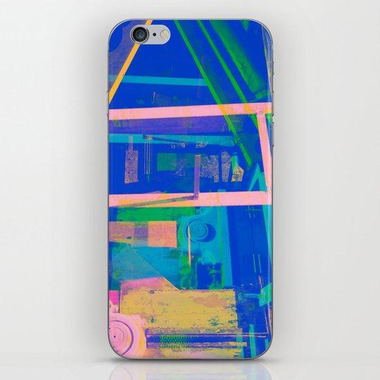 Industrial Abstract Blue 2 iPhone Skin