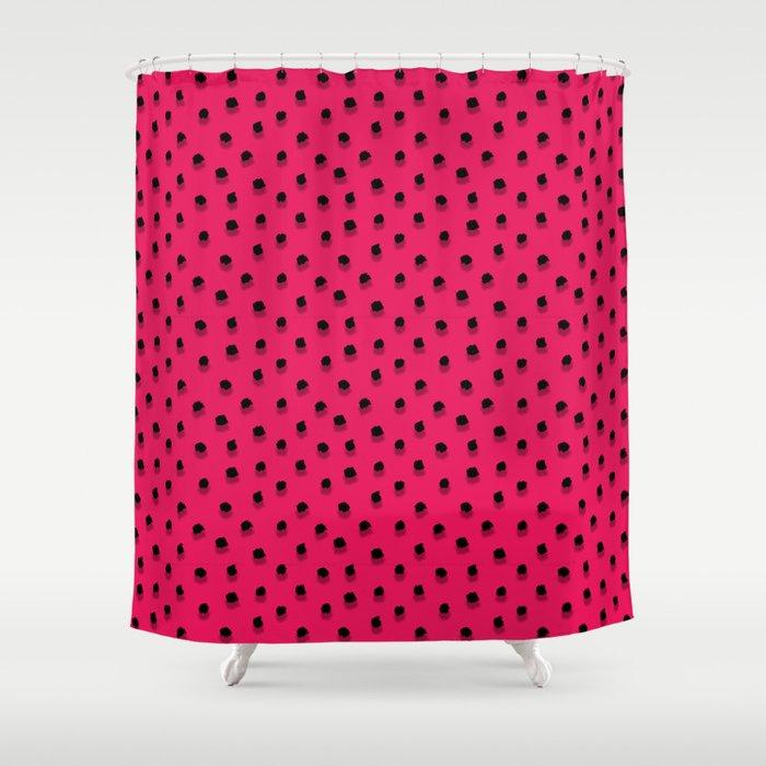 Abstract pink polka dots\