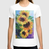 sunflowers T-shirts featuring Sunflowers by OLHADARCHUK
