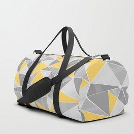 Pattern, grey - yellow Duffle Bag