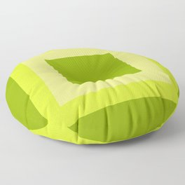 Lime Green Square Design Floor Pillow