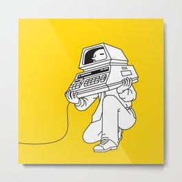Computer head Metal Print