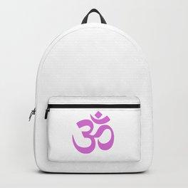 Light Purple Hindu Om Symbol  Backpack