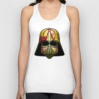 borderlands Tank Tops featuring The Borderlands of the Darth Side by Cranial Matter