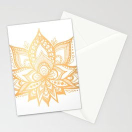 Gold Lotus Flower Stationery Cards