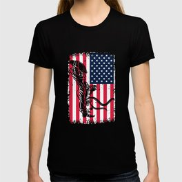 4th of July Taekwondo self defense US Flag Fighter T-shirt