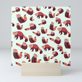 Red Panda Pattern Mini Art Print