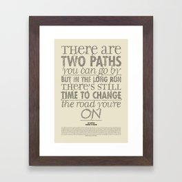 Led x Zeppelin - Stairway to Heaven Framed Art Print
