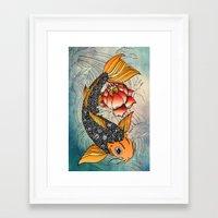 koi Framed Art Prints featuring Koi by Tuky Waingan