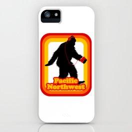 Retro Sasquatch Pacific Northwest iPhone Case
