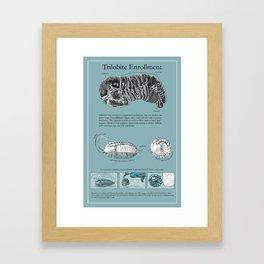 Trilobite Enrollment poster Framed Art Print