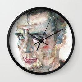 JACK KEROUAC - watercolor portrait.7 Wall Clock