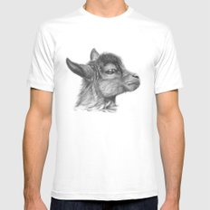 Goat baby G099 2X-LARGE White Mens Fitted Tee